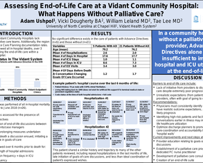 Assessing End-of-Life Care at a Rural Community Hospital: What Happens Without Palliative Care? - Poster Image