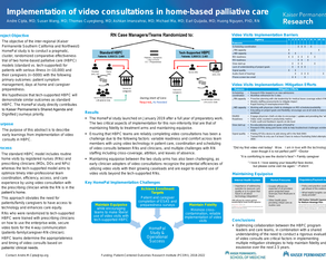 Implementation of video consultations in home-based palliative care  - Poster Image