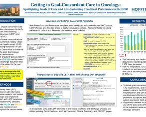 Getting to Goal-Concordant Care in Oncology:  Spotlighting Goals of Care and Treatment Preferences in the EHR - Poster Image