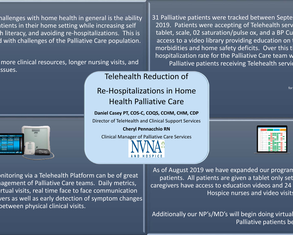 TeleHealth Reduction of Palliative Service Re-hospitalizations in a Home Health Setting - Poster Image