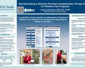 Operationalizing a Volunteer Provided Complementary Therapy Program for Palliative Care Programs - Poster Image