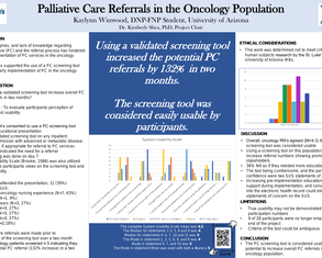 Palliative Care Referrals in Oncology  - Poster Image