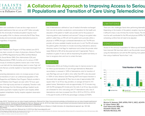 A collaborative approach to improving access to seriously ill populations and transition of care using telemedicine  - Poster Image