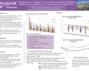 Initiation of a Trigger Tool to Facilitate Early Palliative Medicine Intervention in a Community Hospital ICU - Poster Image