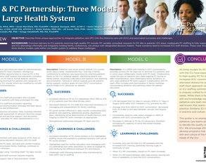 ICU & PC Partnership: Three Models in a Large Health System - Poster Image