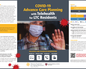 Let's Talk: COVID-19 Advance Care Planning With Telehealth for LTC Residents - Poster Image