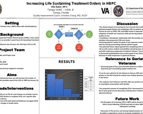 Increasing Life Sustaining Treatment Orders in HBPC - Poster Image
