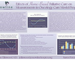 Effects of Home Based Palliative Care on Measurements in the Oncology Care Model Program - Poster Image