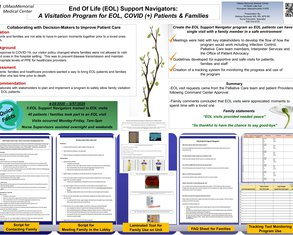 EOL Support Navigators:  A Visitation Program for End of Life, COVID (+) Patients & Families - Poster Image