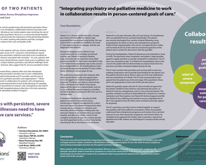 A Tale of Two Patients: How Collaboration Across Disciplines Improves Patient-Centered Care - Poster Image