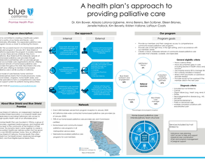 A health plan's approach to providing palliative care - Poster Image