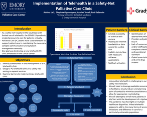 Implementation of telehealth in a Safety-Net Palliative Care (PC) Clinic - Poster Image