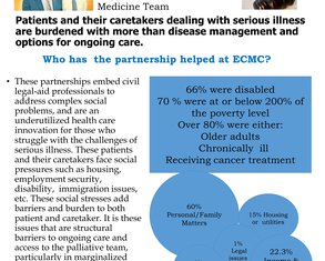 The Odd Couples : Medical-Legal Partnerships are integral to better access to Palliative Care - Poster Image