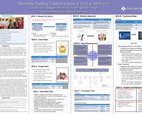 Advanced Dementia, Feeding Tubes, and Goals of Care - Poster Image