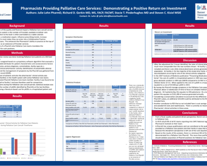 Pharmacists Providing Pall Care: Showing Positive ROI - Poster Image
