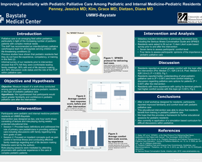 Pediatric Palliative Care and Resident Education - Poster Image