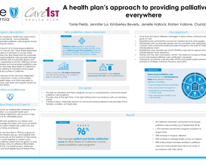 A Health Plan's Approach to Providing Palliative Care Everywhere - Poster Image