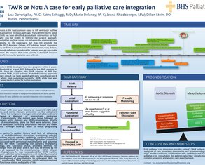 TAVR or Not: A Case for Early Palliative Care Integration  - Poster Image