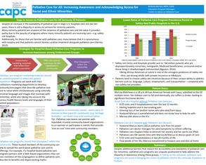 Increasing Awareness of Palliative Care for Minorities - Poster Image