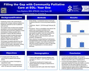 Filling the Gap with Community Palliative Care at End of Life:  Year One - Poster Image