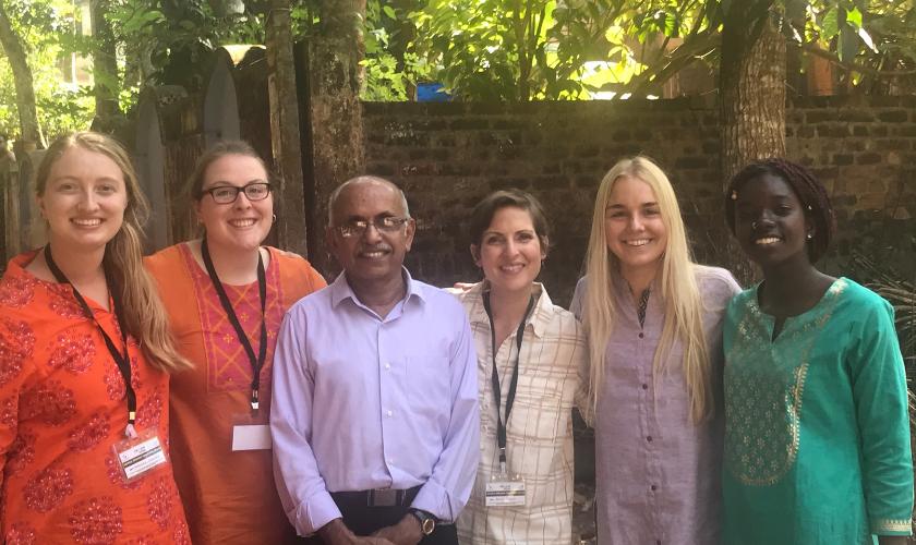 Dr. Raj with University of Iowa nursing, pharmacy, and social work students