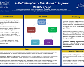 A multidisciplinary pain tumor board to improve QOL - Poster Image