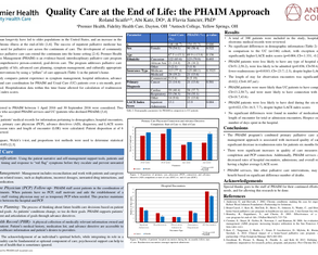 Quality Care at the End of Life: the PHAIM Approach - Poster Image