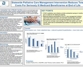 Evaluating Impact of a Statewide Medicaid Palliative Care Intervention - Poster Image