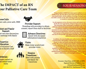 The Role of a Nurse on an Outpatient Palliative Care Team to Increase Provider Productivity and Improve Communication - Poster Image
