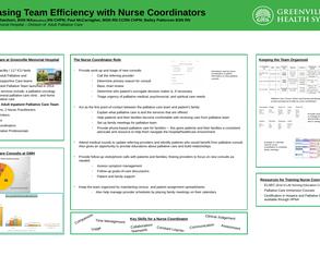 Increasing Team Efficiency with Nurse Coordinators - Poster Image