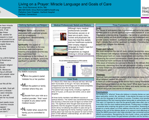 Living on a Prayer: Miracle Language and Goals of Care - Poster Image