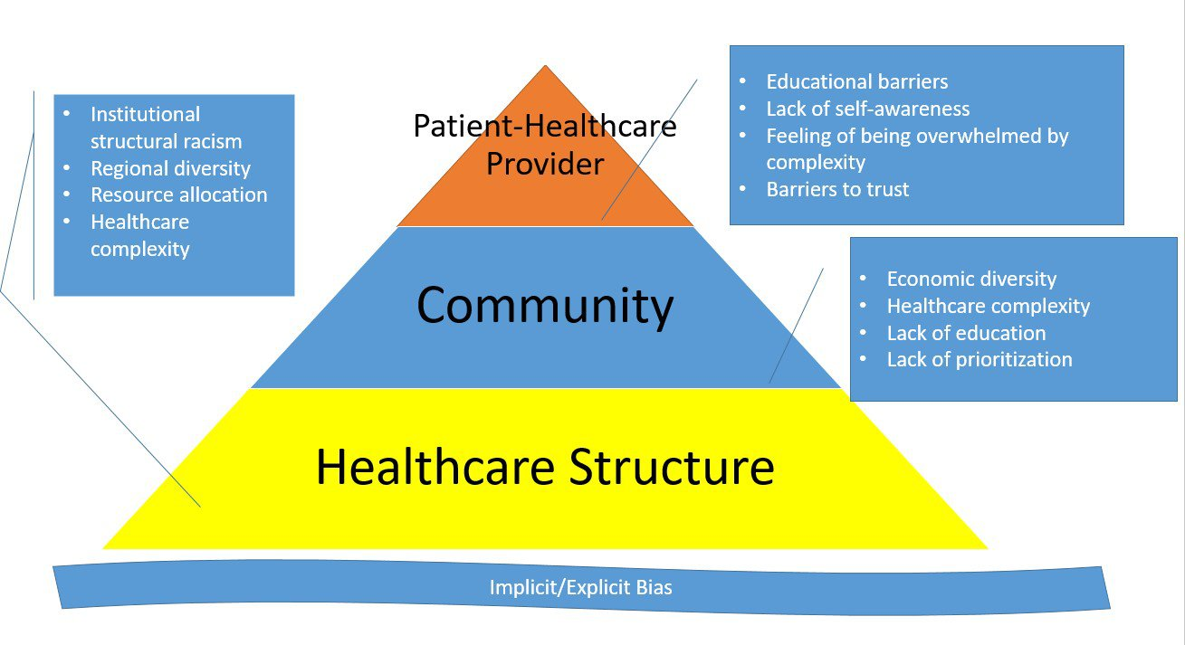 Barriers to Health Equity Pyramid