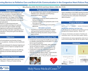 Overcoming Barriers of Palliative Care and End-of-Life Communication for the CHF population with Teach Back and Simulation - Poster Image