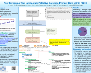 Integrating Palliative Care into Primary Care at a Federally Qualified Health Center - Poster Image