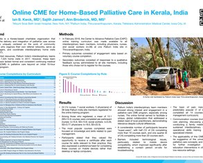 Online CME for Home-Based Palliative Care in Kerala, India - Poster Image