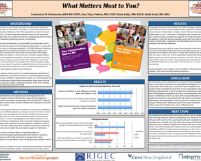 Advance care planning education at local senior centers - Poster Image