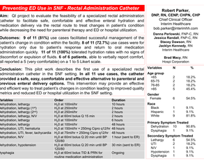 Preventing ED Use in SNF - Rectal Administration Catheter - Poster Image