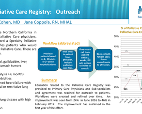Outreach to Palliative Care Registry Population - Poster Image