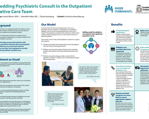 Embedding Psychiatric Consult in the Palliative Care Team - Poster Image