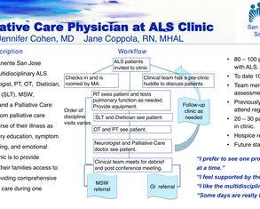 Palliative Care in an ALS Clinic - Poster Image