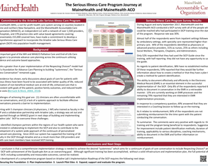The Serious Illness Care Program Journey at MaineHealth - Poster Image
