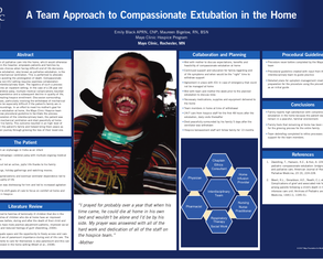 A Team Approach to Compassionate Extubation in the Home - Poster Image