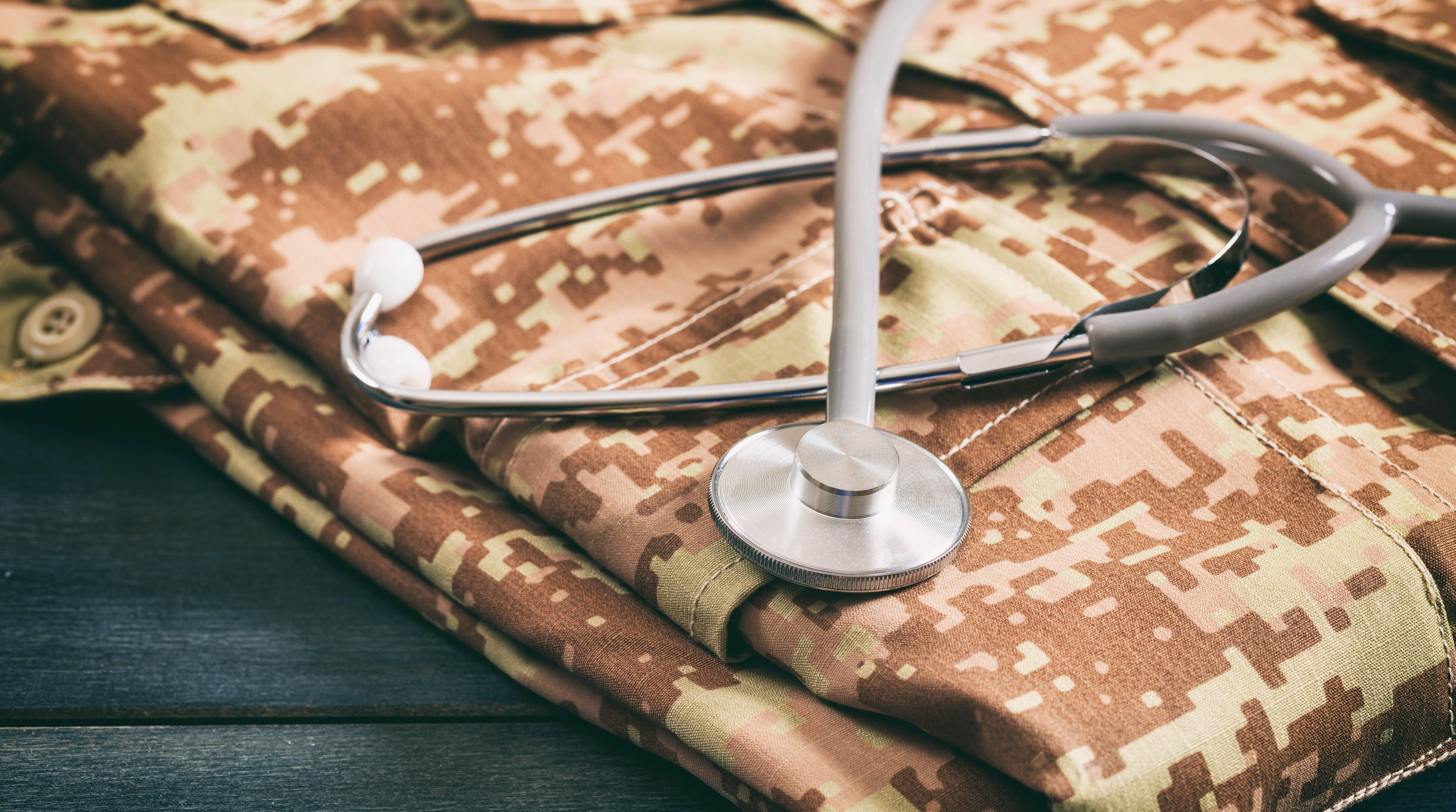 Military Uniform with Stethoscope