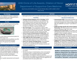 AHA Circle of Life Awards, Citation of Honor, Department of Supportive Care Medicine, Moffitt Cancer Center - Poster Image