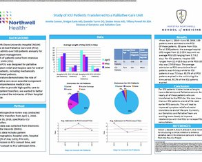 Study of ICU Patients Transferred to a Palliative Care Unit - Poster Image