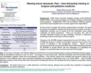 Part-Time Fellowship Training in Palliative Medicine - Poster Image
