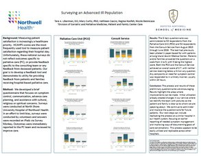 Surveying an Advanced Ill Population - Poster Image