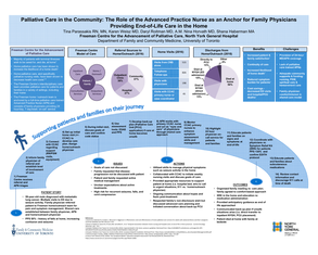 The APN: An Anchor for Family Physician's Providing End of Life Care in the Home - Poster Image