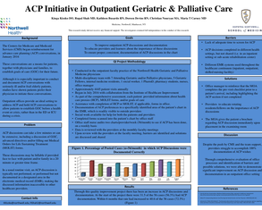 Advanced Care Planning Initiative in Outpatient Geriatric & Palliative Care - Poster Image