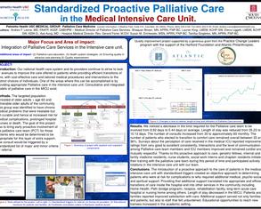 Standardized Proactive Palliative Care In The MICU - Poster Image